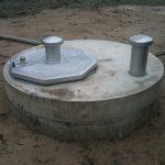 Brunnenschacht mit Edelstahlschachtbdeckung