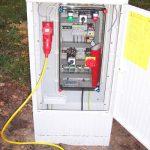 Schaltkasten zur Notstromeinspeisung - Betrieb der Tiefenpumpe über einen Stromerzeuger