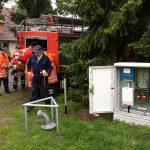 Feuerwehr beim Aufbau der TS8